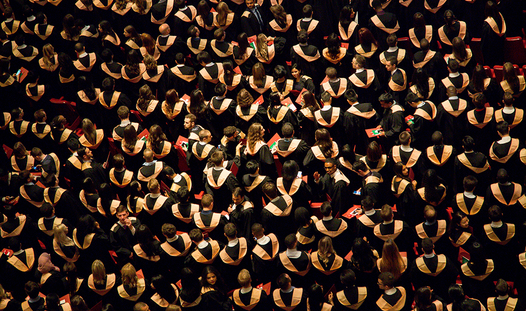 Graduates at Commencement Ceremony
