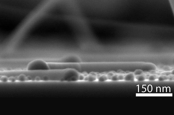 Crawling nanowire along the surface of graphene films