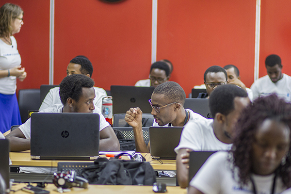CMU-Africa students at hackathon