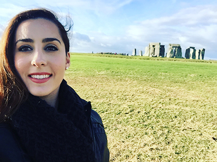 Madeleine Kelly at Stonehenge