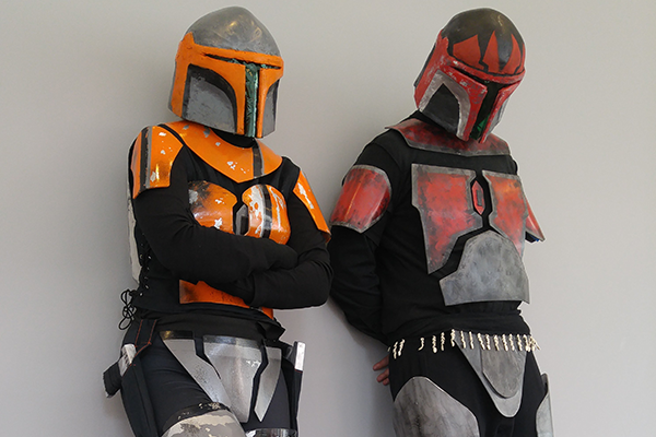 2 students in Star Wars armor