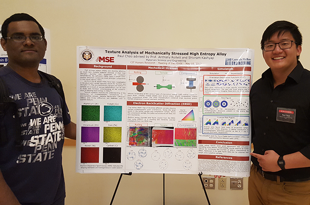 Kashyap and Chao with research poster