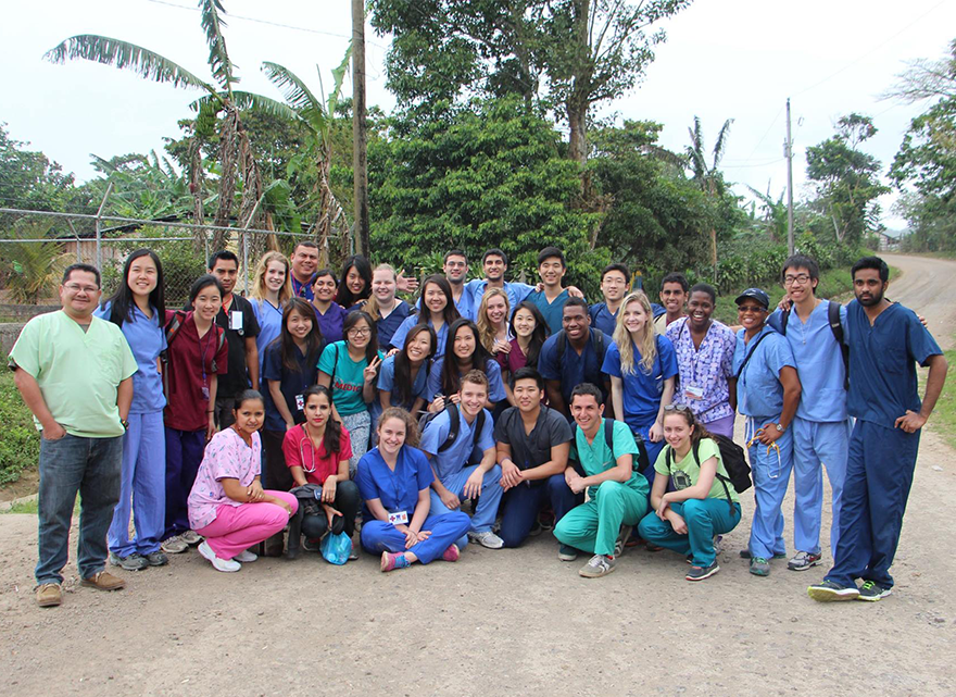 Group photo of people in scrubs