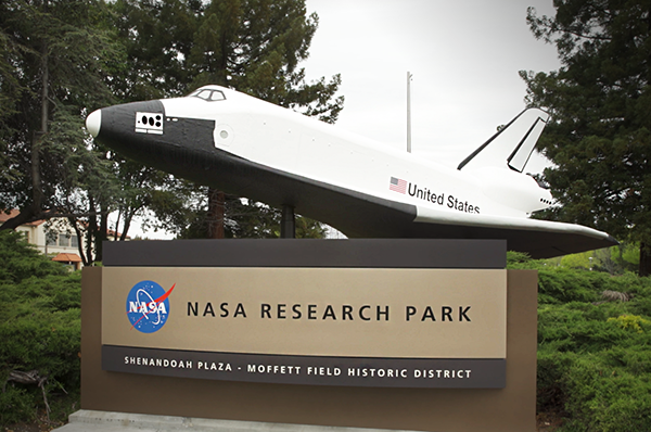 NASA Ames Research Park sign