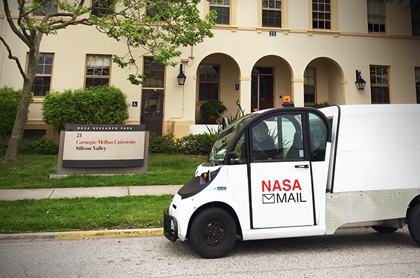 NASA truck at Silicon Valley campus