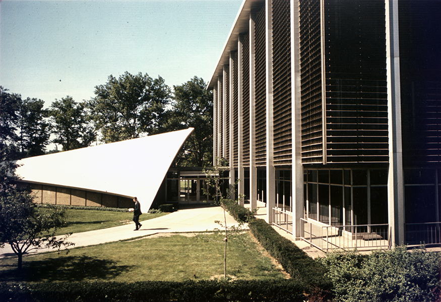 Historical photo of Scaife Hall - color