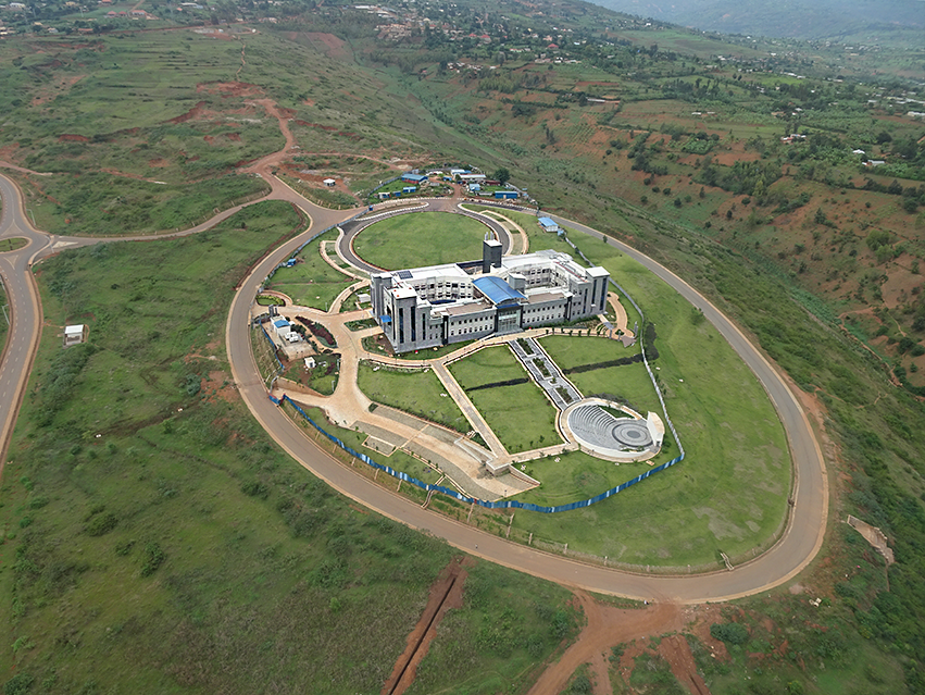 Aerial view of the new CMU-Africa location