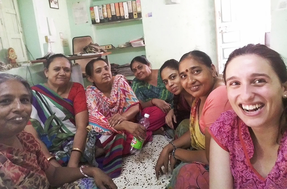 A group of women from India with Meital Rosenberg