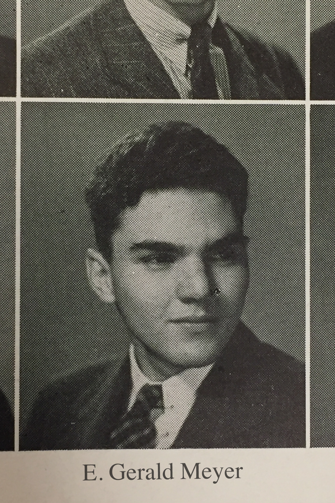 Old yearbook photo of Meyer