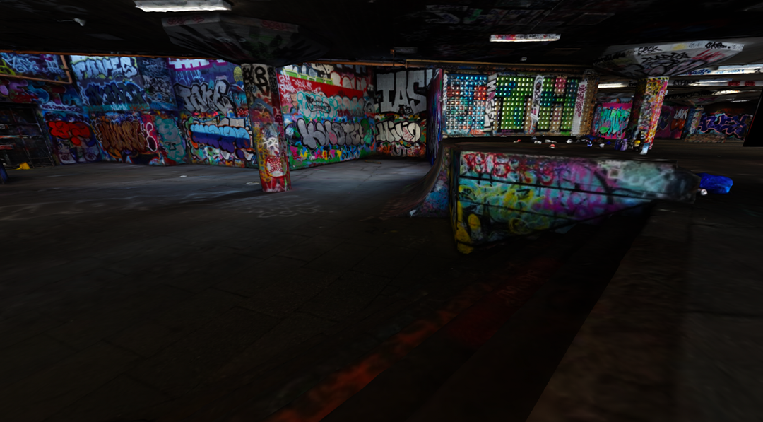 Virtual/augmented reality view of graffiti art