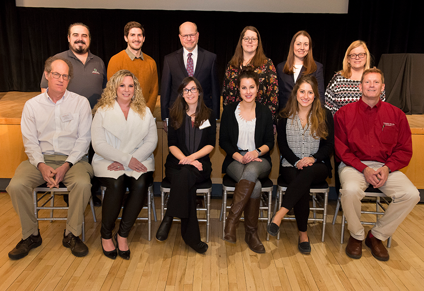 2018 College of Engineering Staff Recognition Awards Committee with Interim Dean Jon Cagan